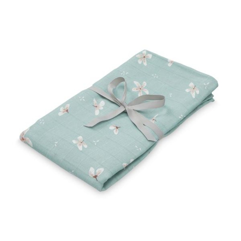 Swaddle din muselina Cam Cam - Windflower Blue