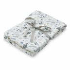 Swaddle din muselina Cam Cam - Pressed Leaves Blue