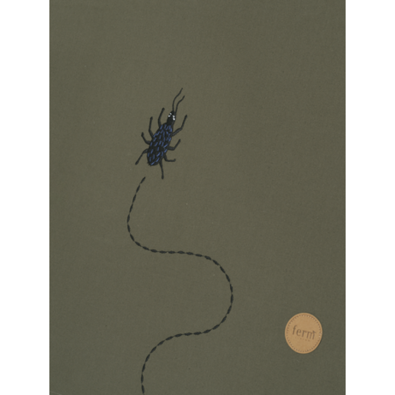 Cort Beetle Embroidery Ferm Living - Dark Olive