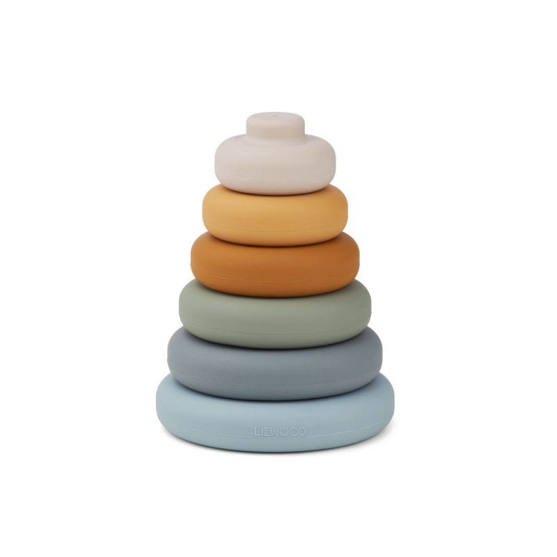 Dag Stacking Tower Liewood - Blue Multi Mix