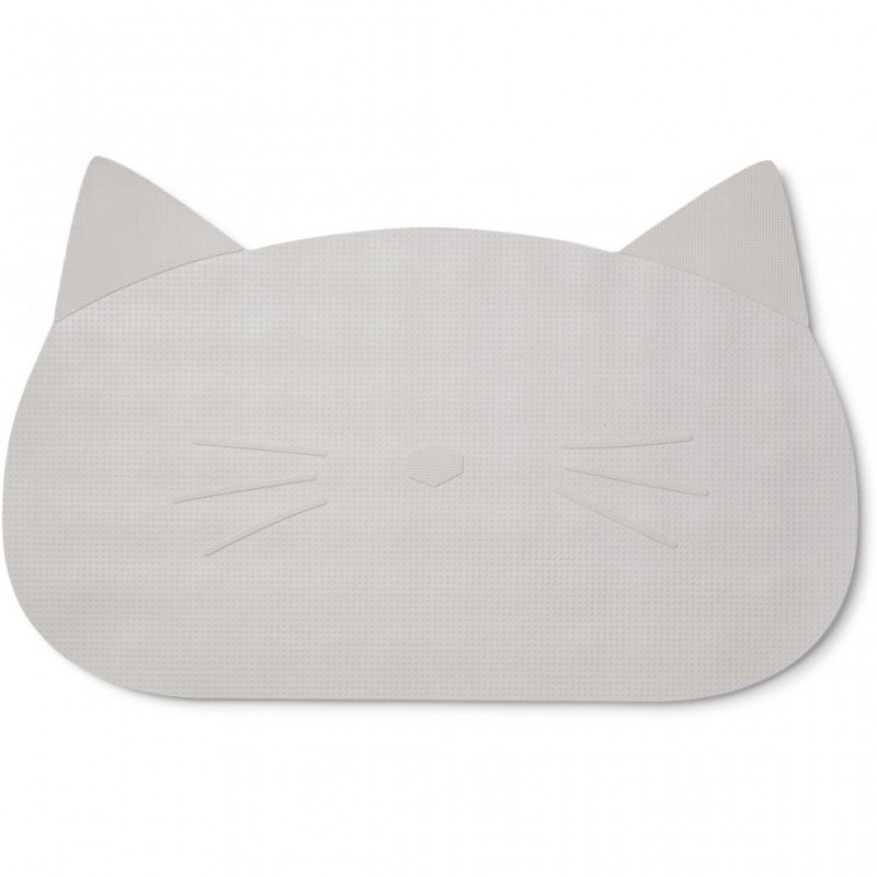 Covoras antiderapant de baie Liewood - Cat Dumbo Grey