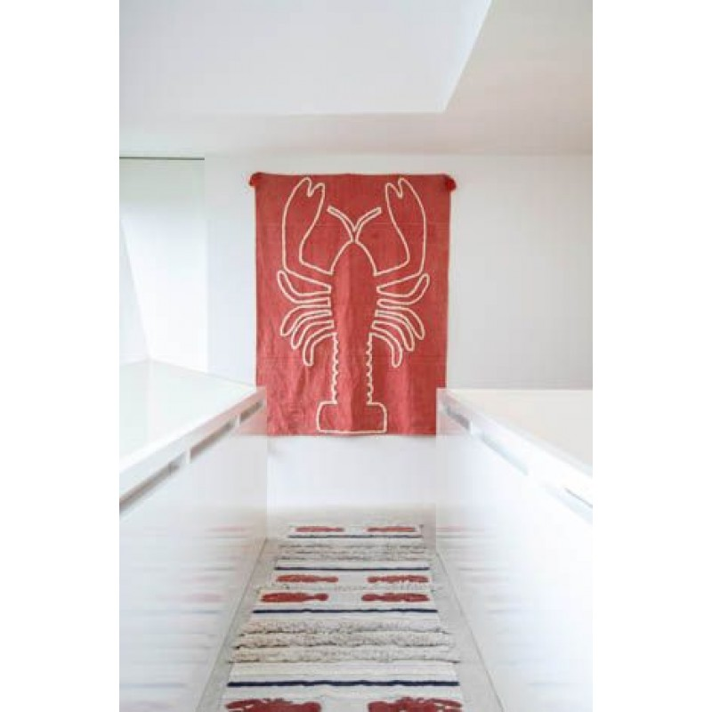 Decoratiune de perete Giant Lobster Lorena Canals - Brick Red