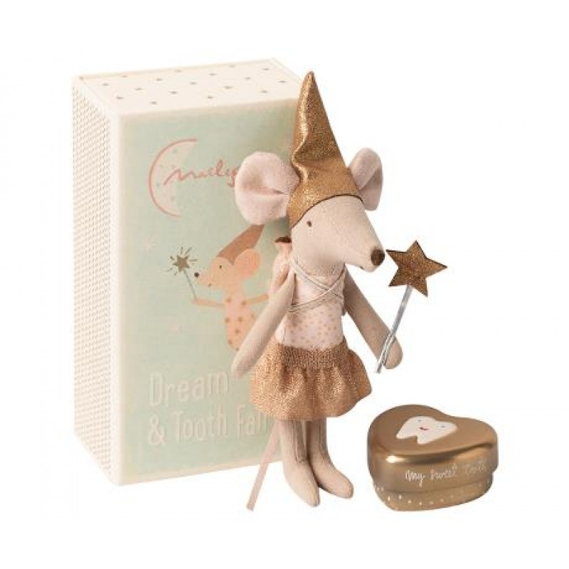 Jucarie textila Tooth Fairy Mouse in Matchbox Big Sister Maileg