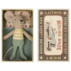 Jucarie textila Little Brother Mouse in Box Maileg