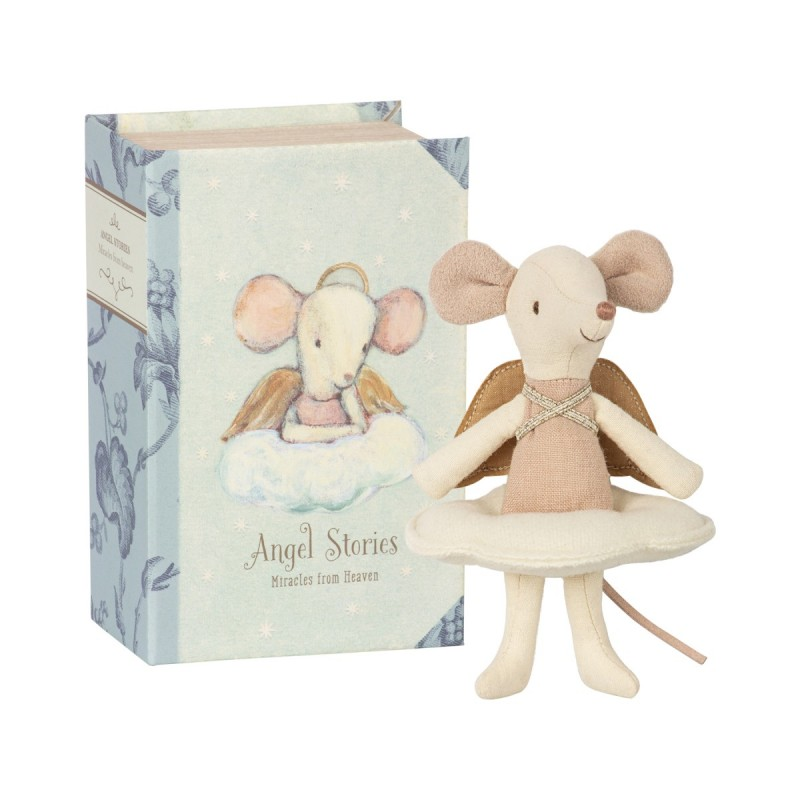 Jucarie textila Angel Stories Big Sister Mouse in Book Maileg