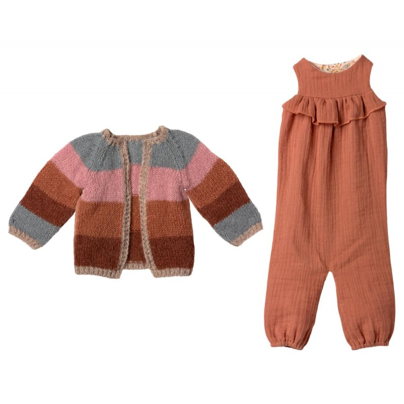 Jucarie textila Bunny Size 5 Maileg - Suit and Knitted Cardigan