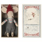 Jucarie textila Christmas Mouse in Matchbox Maileg - Big Brother