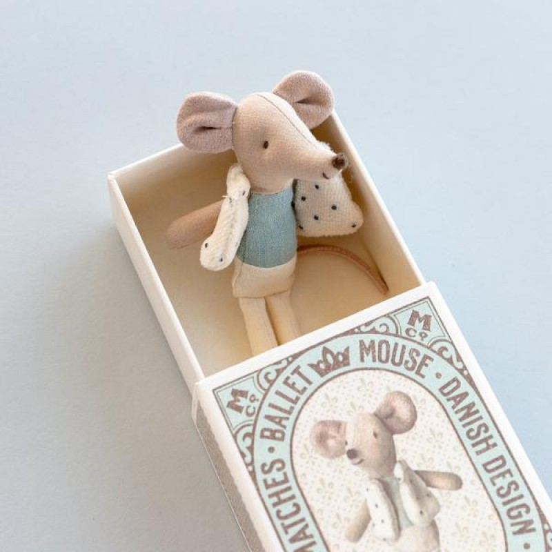 Jucarie textila Dancer in Matchbox Maileg - Little Brother Mouse