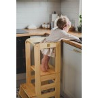 Learning Tower ajustabil Meow Baby - Natural Wood