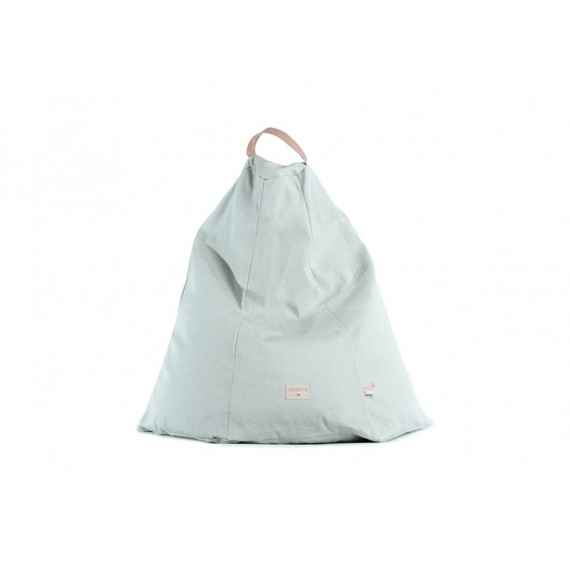Bean Bag Marrakech NOBODINOZ - White Bubble/Aqua