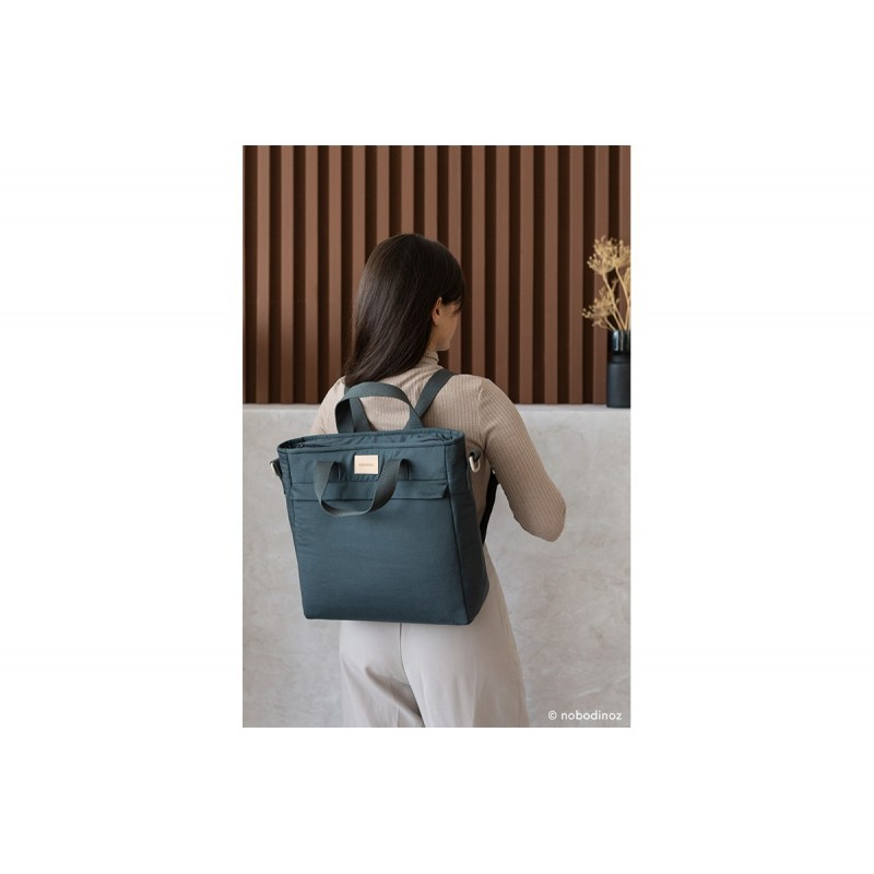 Rucsac maternitate impermeabil Baby on the Go NOBODINOZ - Carbon Blue
