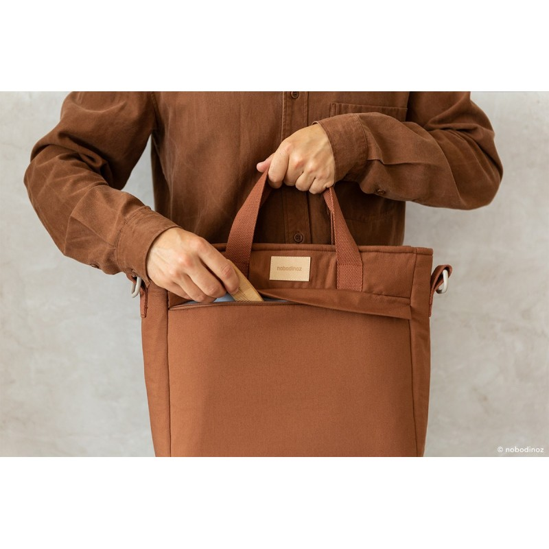 Rucsac maternitate impermeabil Baby on the Go NOBODINOZ - Clay Brown