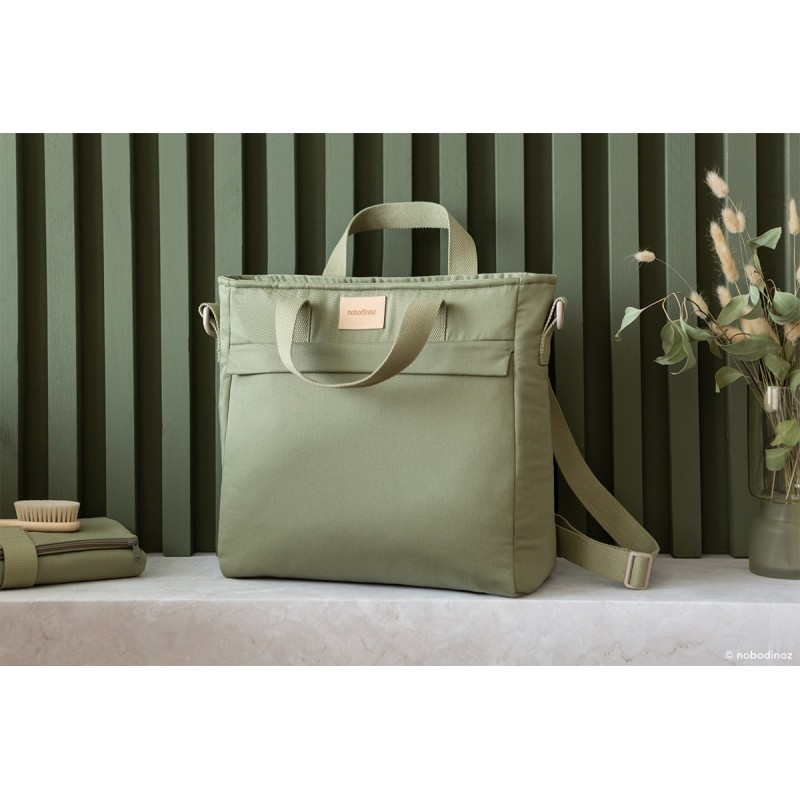 Rucsac maternitate impermeabil Baby on the Go NOBODINOZ - Olive Green