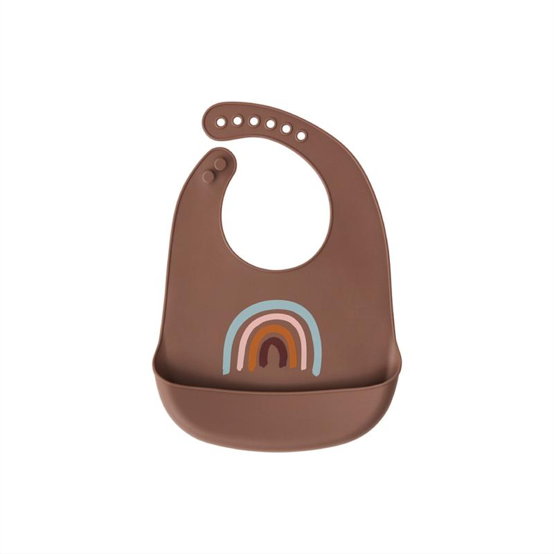 Set 2 bavete din silicon Rainbow OYOY Living - Brown