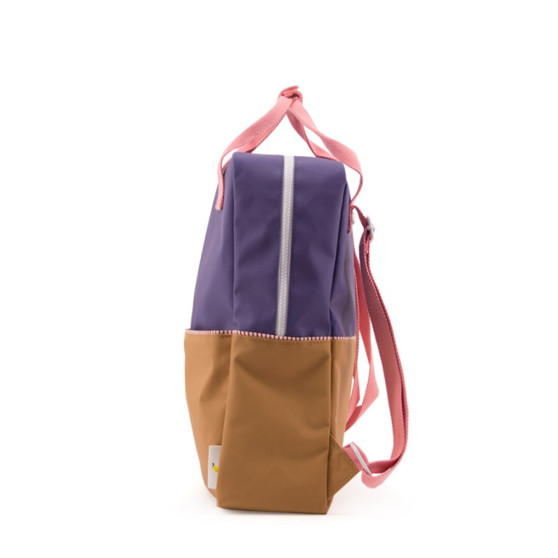 Rucsac Colour Block L Sticky Lemon- Mov/Bej